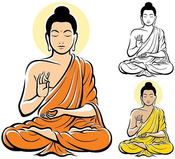 stockillustraties, clipart, cartoons en iconen met buddha - boeddha