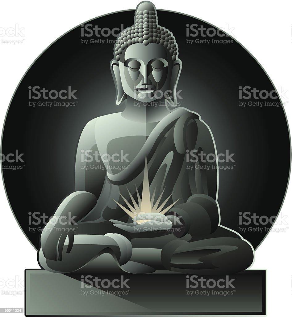 Будда - Векторная графика Без людей роялти-фри