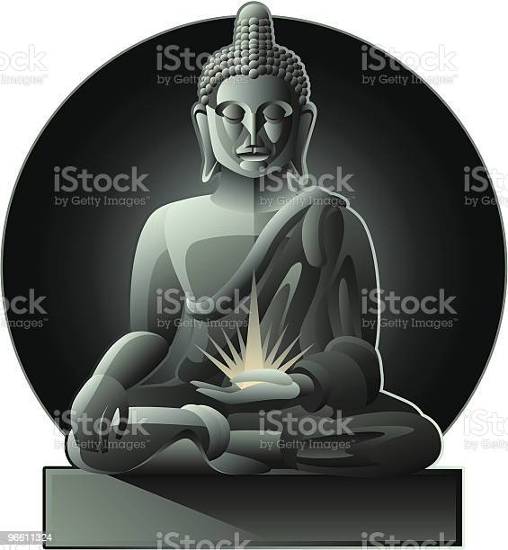 Будда — стоковая векторная графика и другие изображения на тему Будда