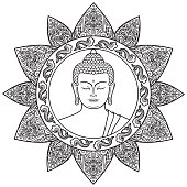 Buddha with Floral Decor