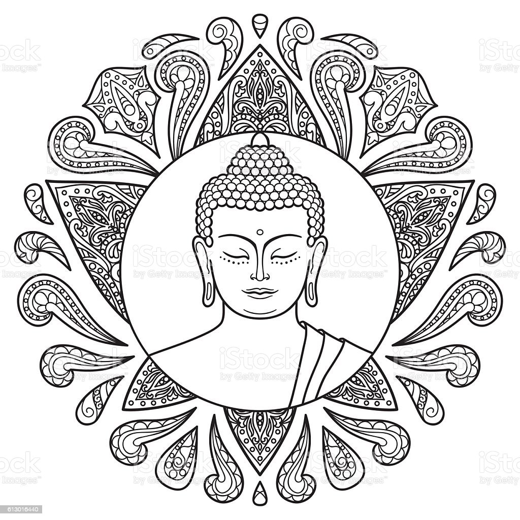 buddha with lotus stock vector more images of buddha