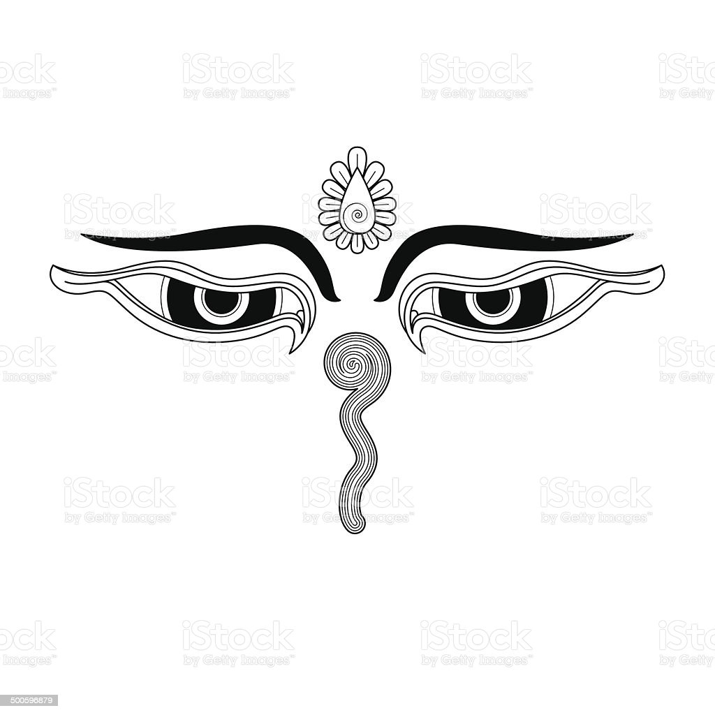 Buddhas eyes stock vector art more images of asia 500596879 istock buddhas eyes line drawing buddhist symbol royalty free buddhas eyes biocorpaavc Images