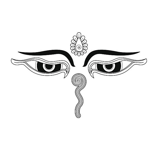 Royalty Free Eyes Of Buddha Clip Art Vector Images Illustrations