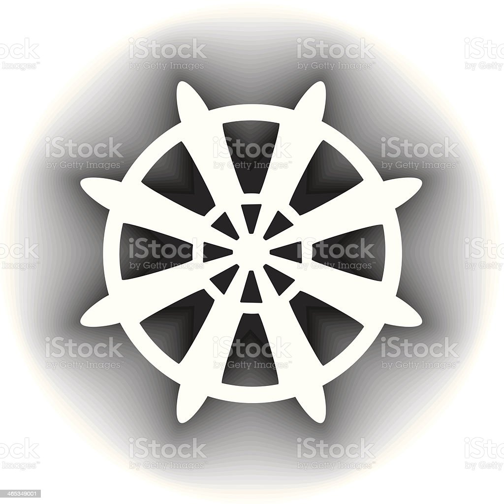 Buddhism Symbol Stock Vector Art More Images Of Buddhism 465349001