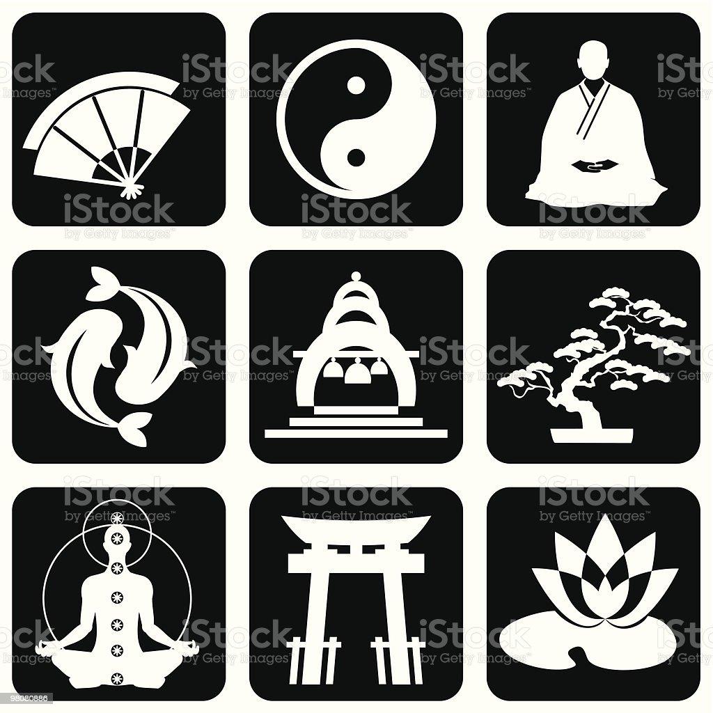 buddhism symbols royalty-free buddhism symbols stock vector art & more images of asia