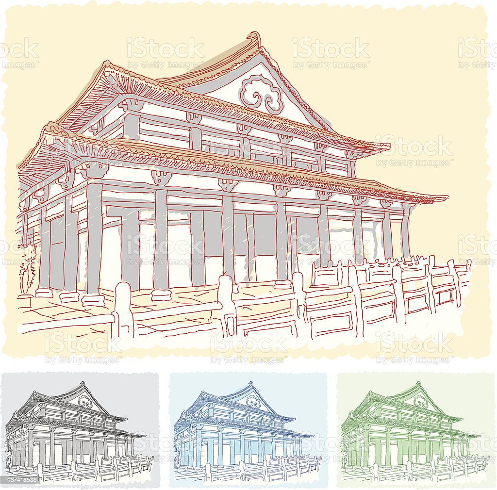 Buddhism Temple royalty-free stock vector art