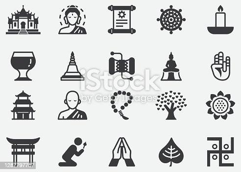 istock Buddhism , Thailand , Japan , Asia , Zen , Buddha ,Buddha statue Pixel Perfect Icons 1287797757