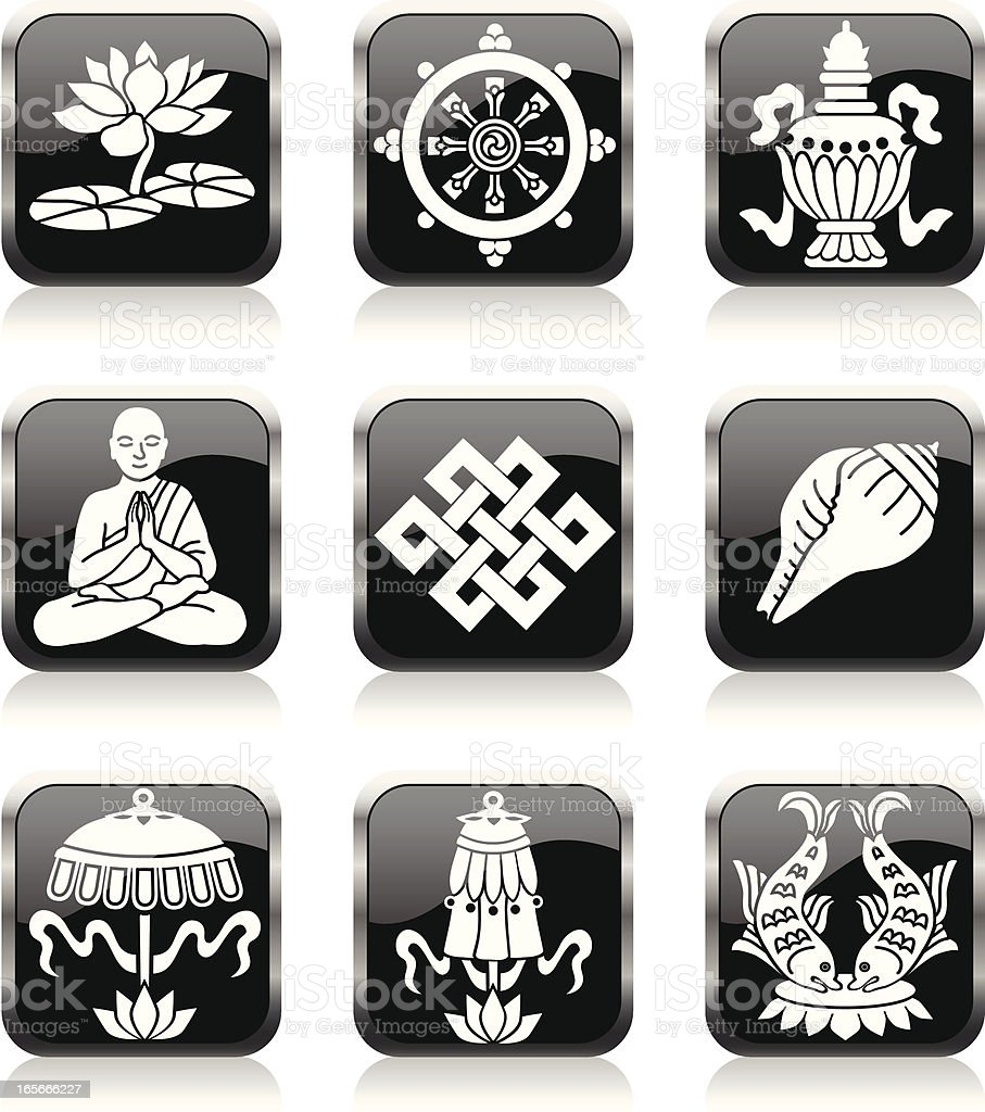 Buddhist eight treasures royalty-free stock vector art