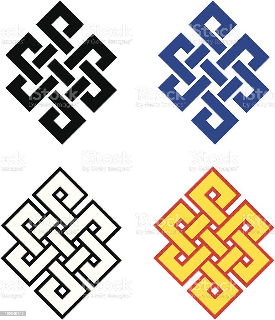 Buddhist Endless Knot vector art illustration