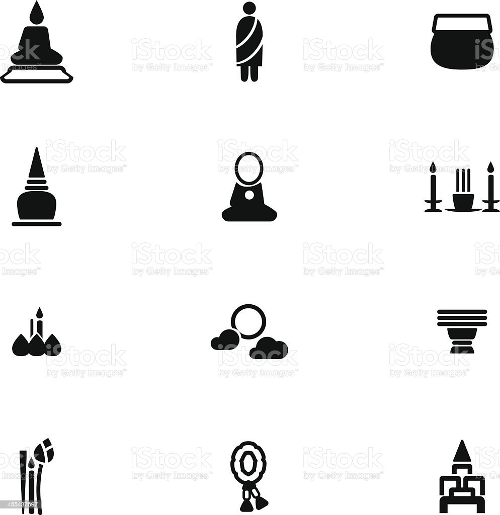 Buddhist Icon Set royalty-free buddhist icon set stock vector art & more images of altar