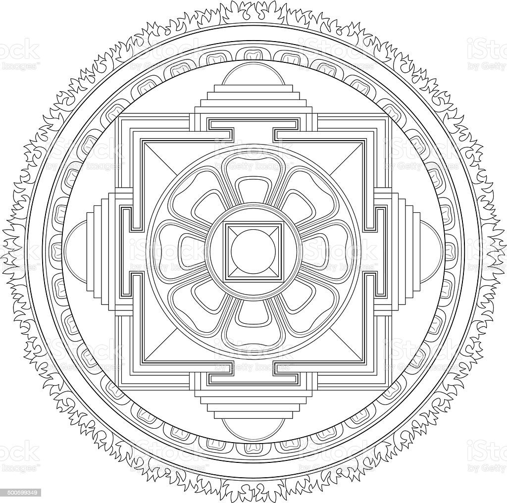 buddhist kalachakra mandala stock vector art more images. Black Bedroom Furniture Sets. Home Design Ideas