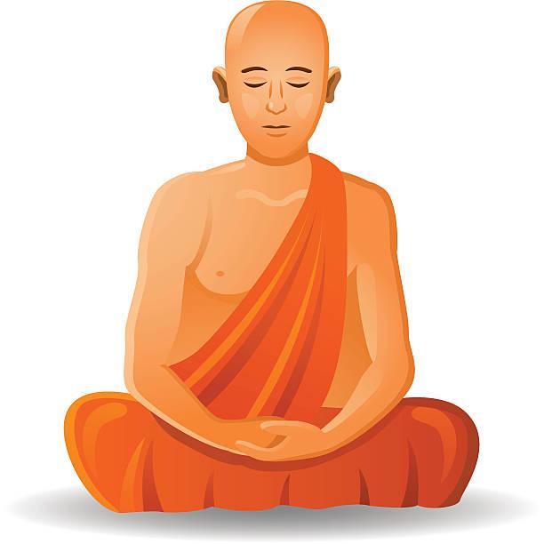 ilustraciones, imágenes clip art, dibujos animados e iconos de stock de monje budista - hermano