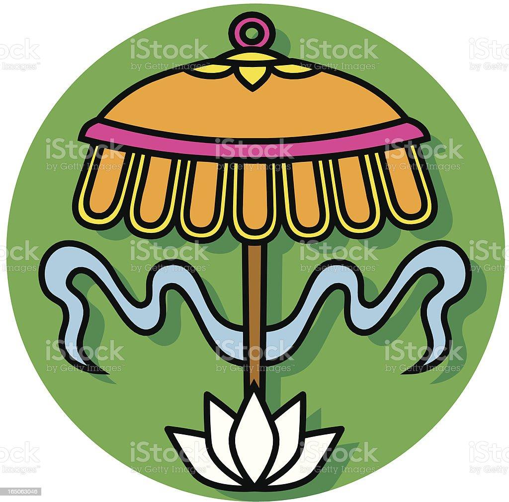 Buddhist parasol icon royalty-free stock vector art