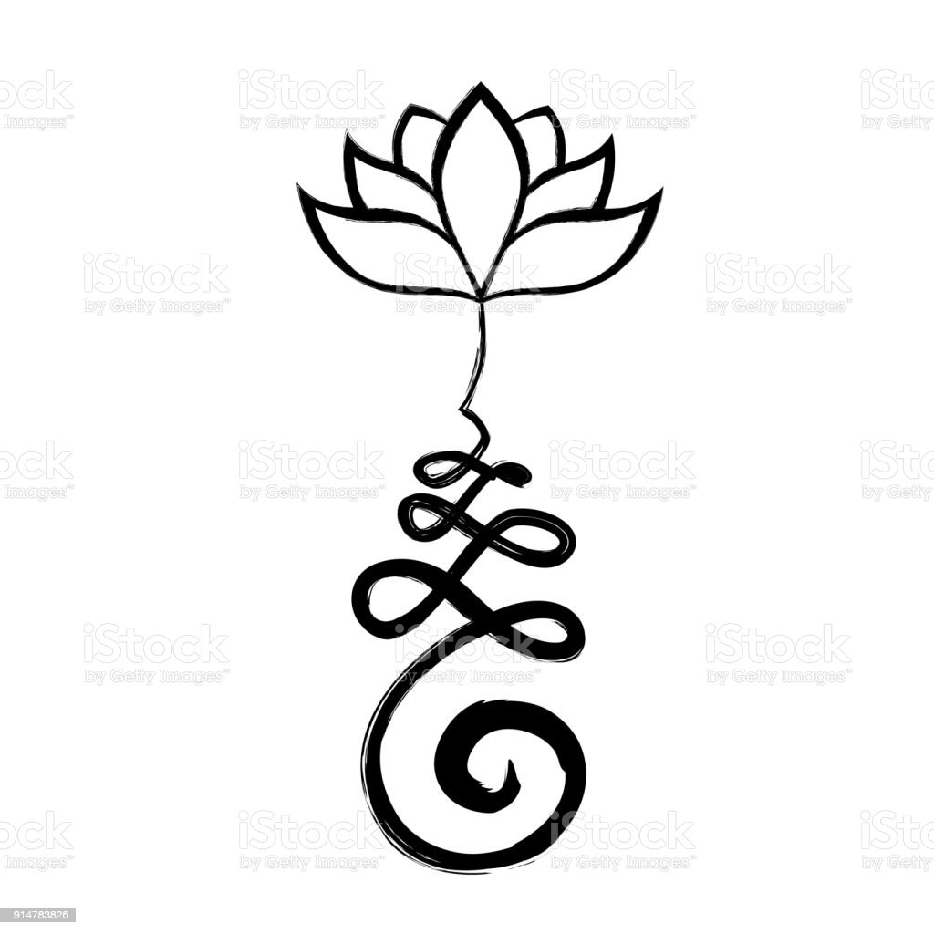 Buddhist Symbol And Lotus Stock Vector Art More Images Of Black