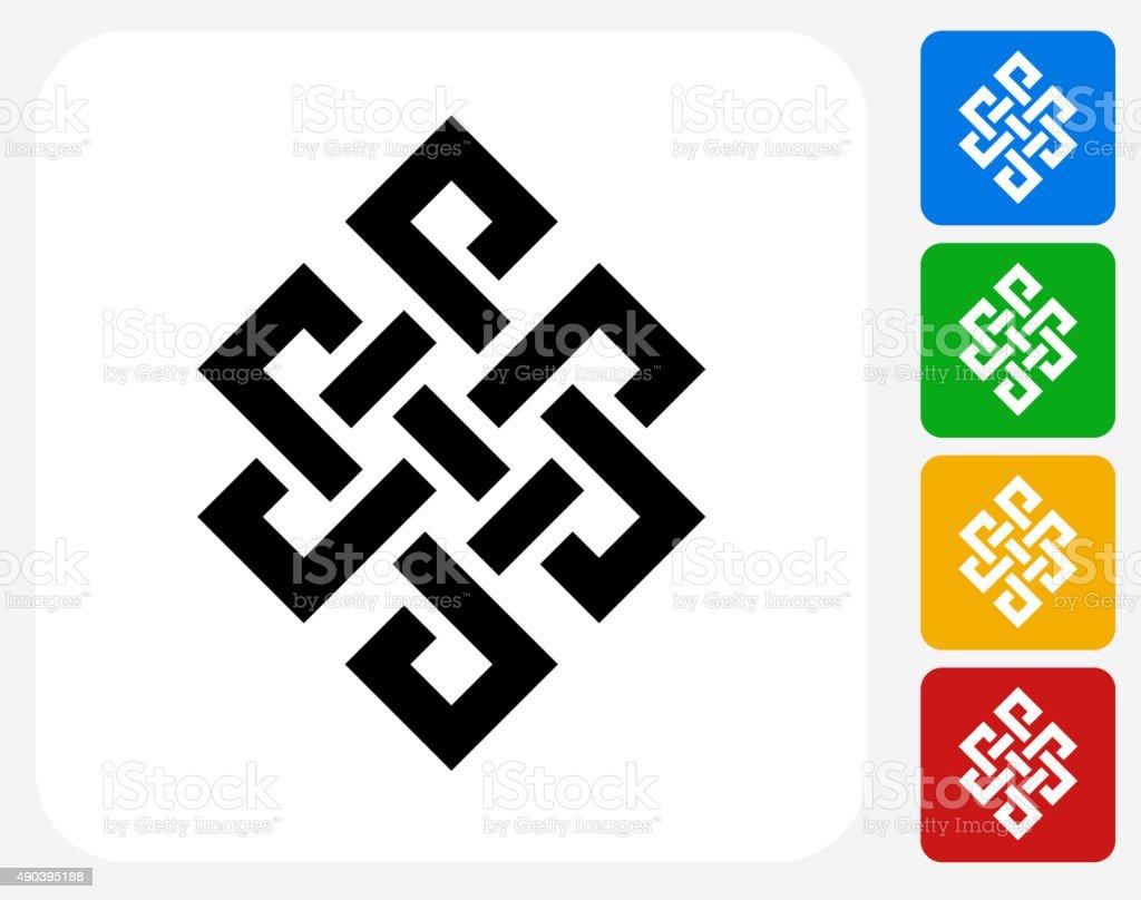 Buddhistische Symbol Symbol Flache Grafik Design Stock Vektor Art