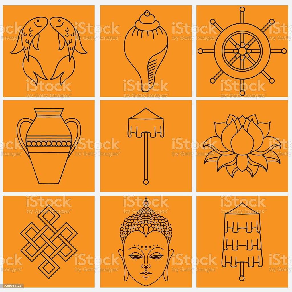 Buddhist symbolism the 8 auspicious symbols of buddhism stock buddhist symbolism the 8 auspicious symbols of buddhism royalty free buddhist symbolism the 8 biocorpaavc