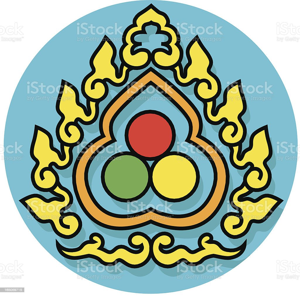 Buddhist Three Jewels Icon Stock Vector Art More Images Of