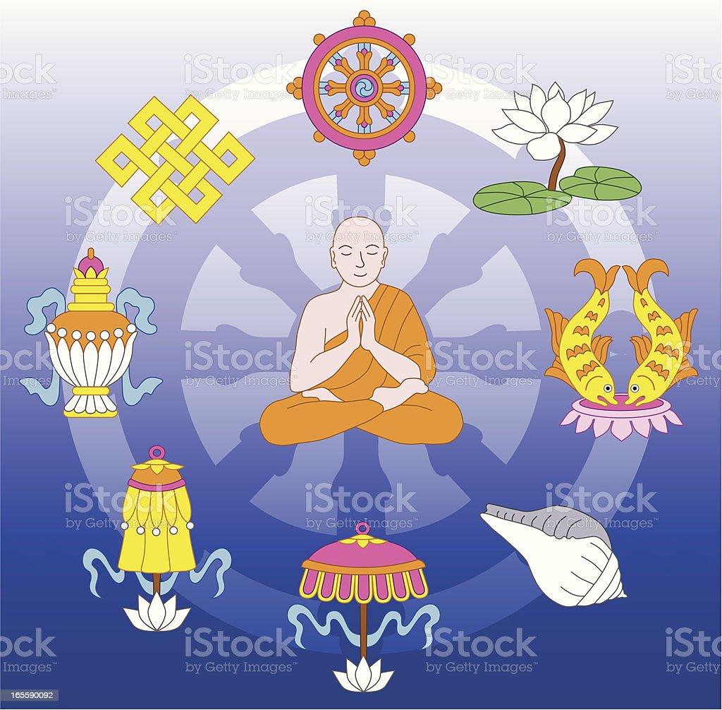 Buddhist treasures royalty-free buddhist treasures stock vector art & more images of animal shell