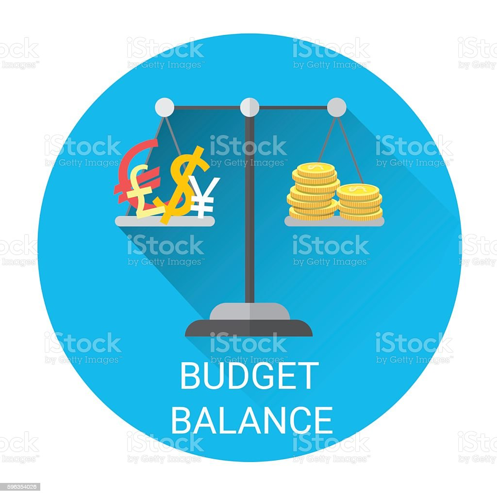 Budget Balance Scale Business Economy Icon royalty-free budget balance scale business economy icon stock vector art & more images of bank