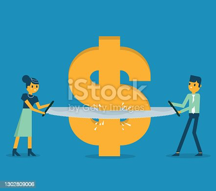 istock Budget cut 1302809006
