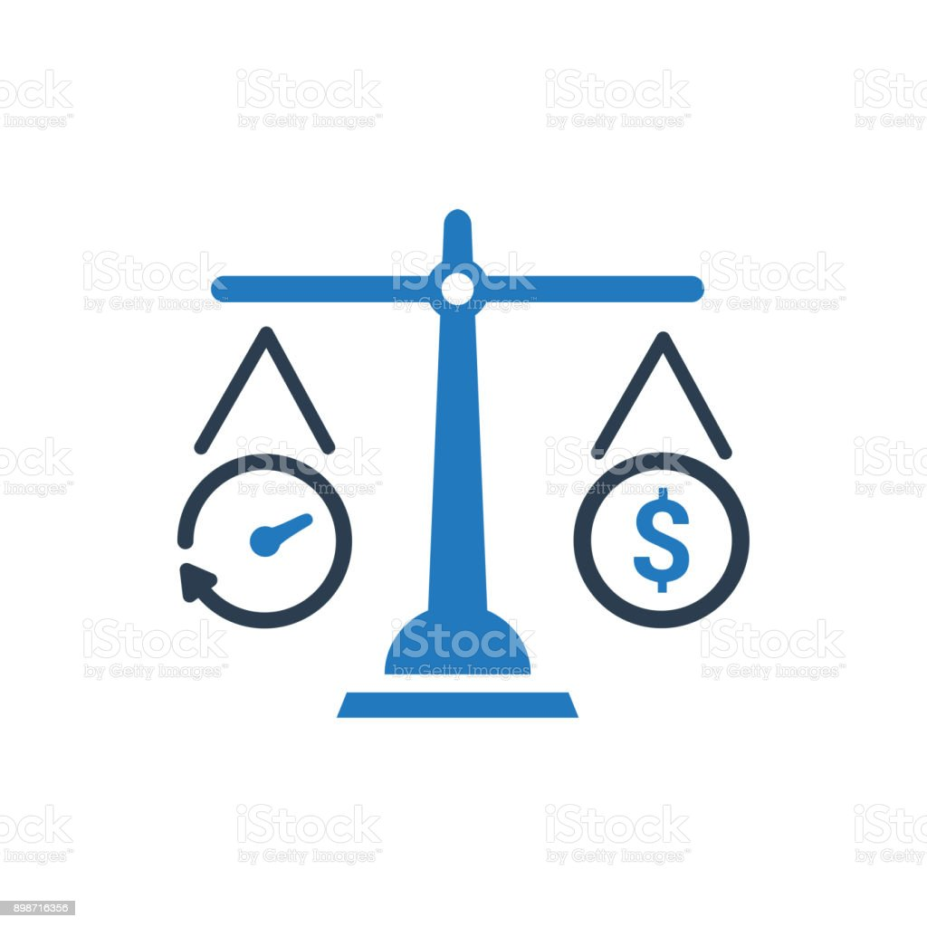 Ícone de estimativa de orçamento - ilustração de arte em vetor