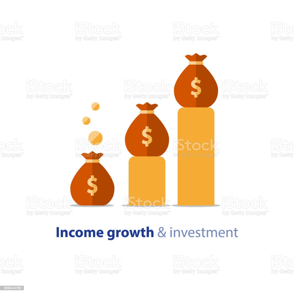 Budget fund planning, business growth, income graph, revenue chart, vector illustration vector art illustration