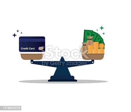 budget management concept. Money economy background equal money with credit card