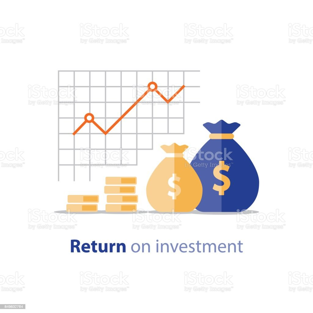 Budget planning, expenses concept, accounting report, income growth, revenue increase vector art illustration