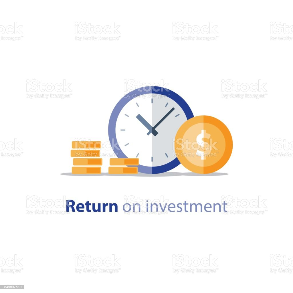 Budget planning, time is money, expenses concept, accounting report, income growth, revenue increase vector art illustration