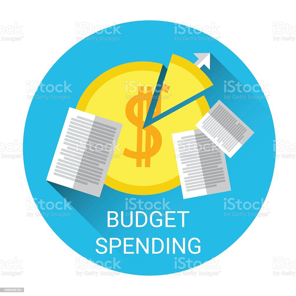 budget spending financial business icon のイラスト素材 596356782