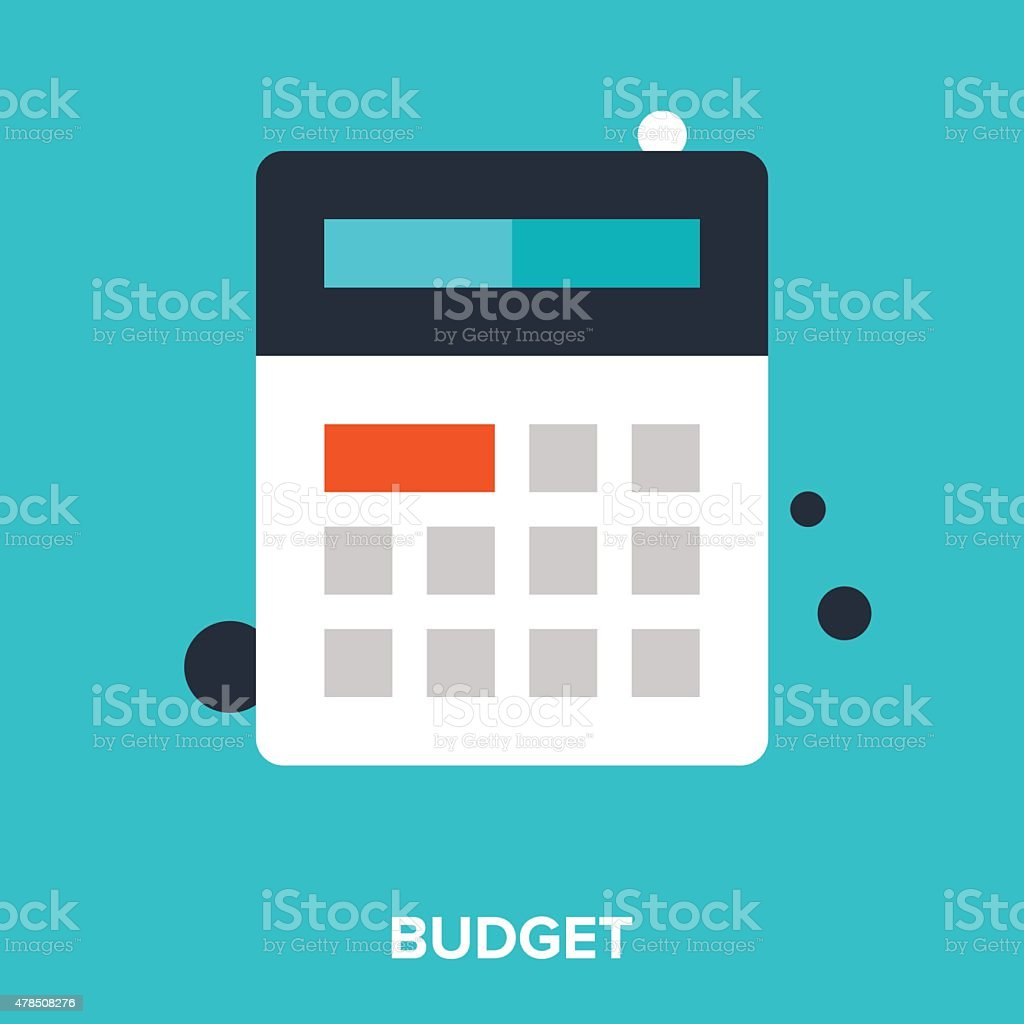 budget vector art illustration