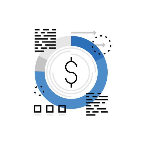 Budgétisation Monoflat icône - Illustration vectorielle