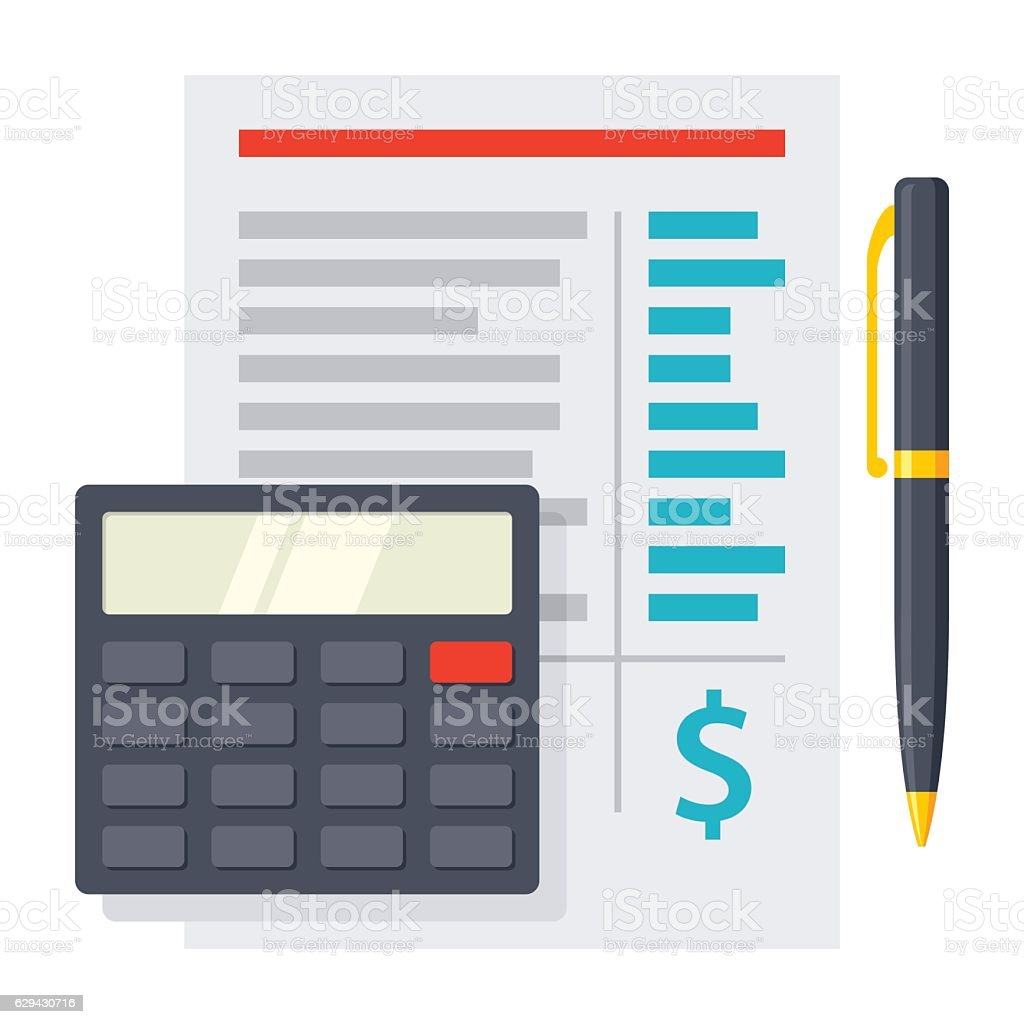 Budgeting Vector Icon vector art illustration