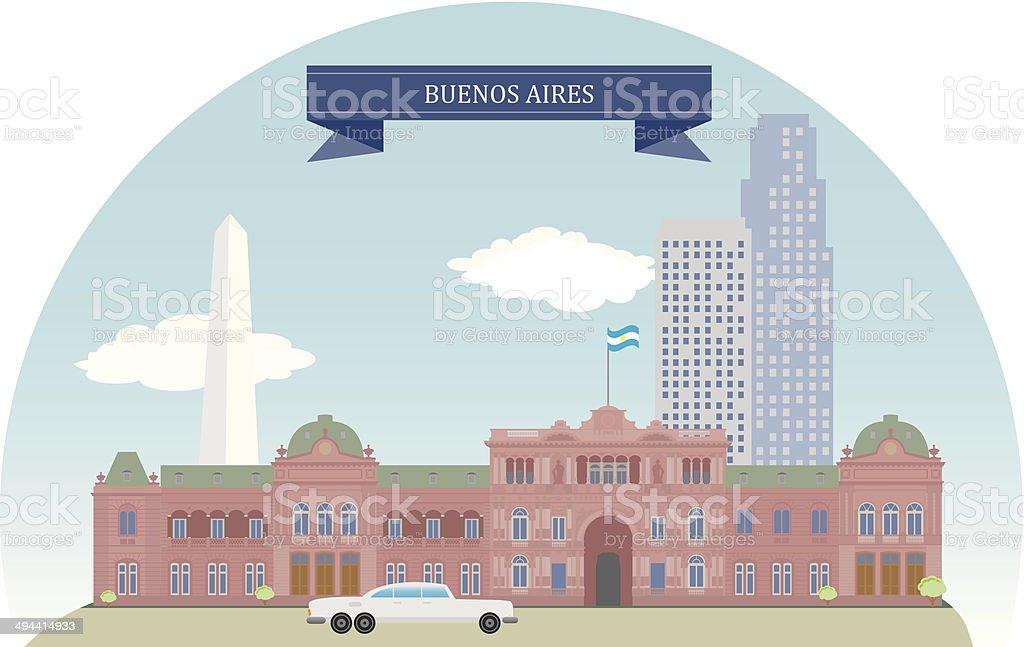 Buenos Aires, Argentina - ilustração de arte em vetor