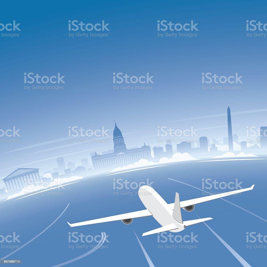Buenos Aires Skyline Flight Destination - ilustración de arte vectorial