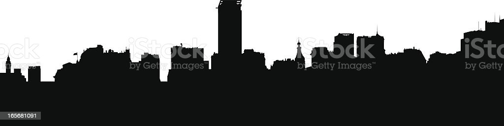 Buenos Aires Skyline Silhouette royalty-free stock vector art