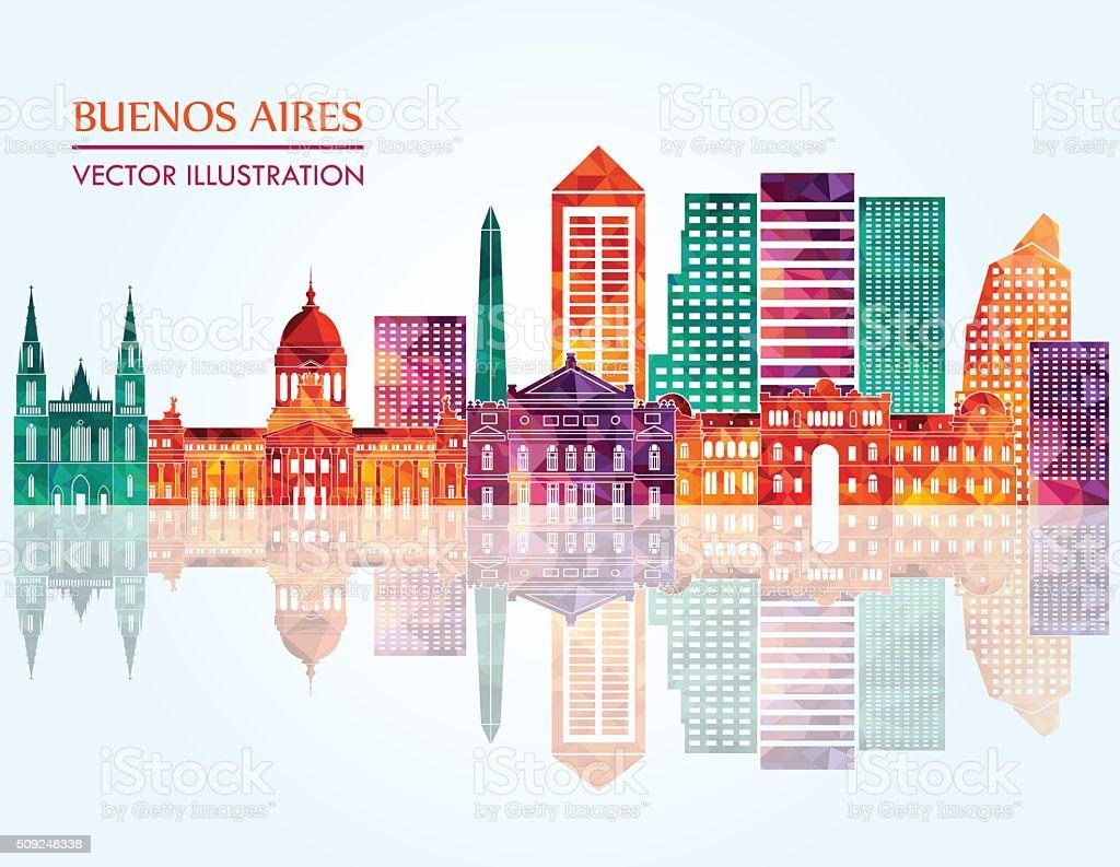 Buenos Aires skyline. Vector illustration vector art illustration
