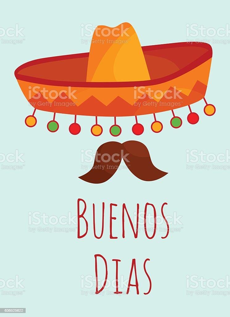 Buenos Dias Poster Stock Vektor Art und mehr Bilder von ...