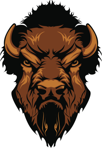 Buffalo Bison Mascot Head Graphic Stock Illustration - Download Image Now