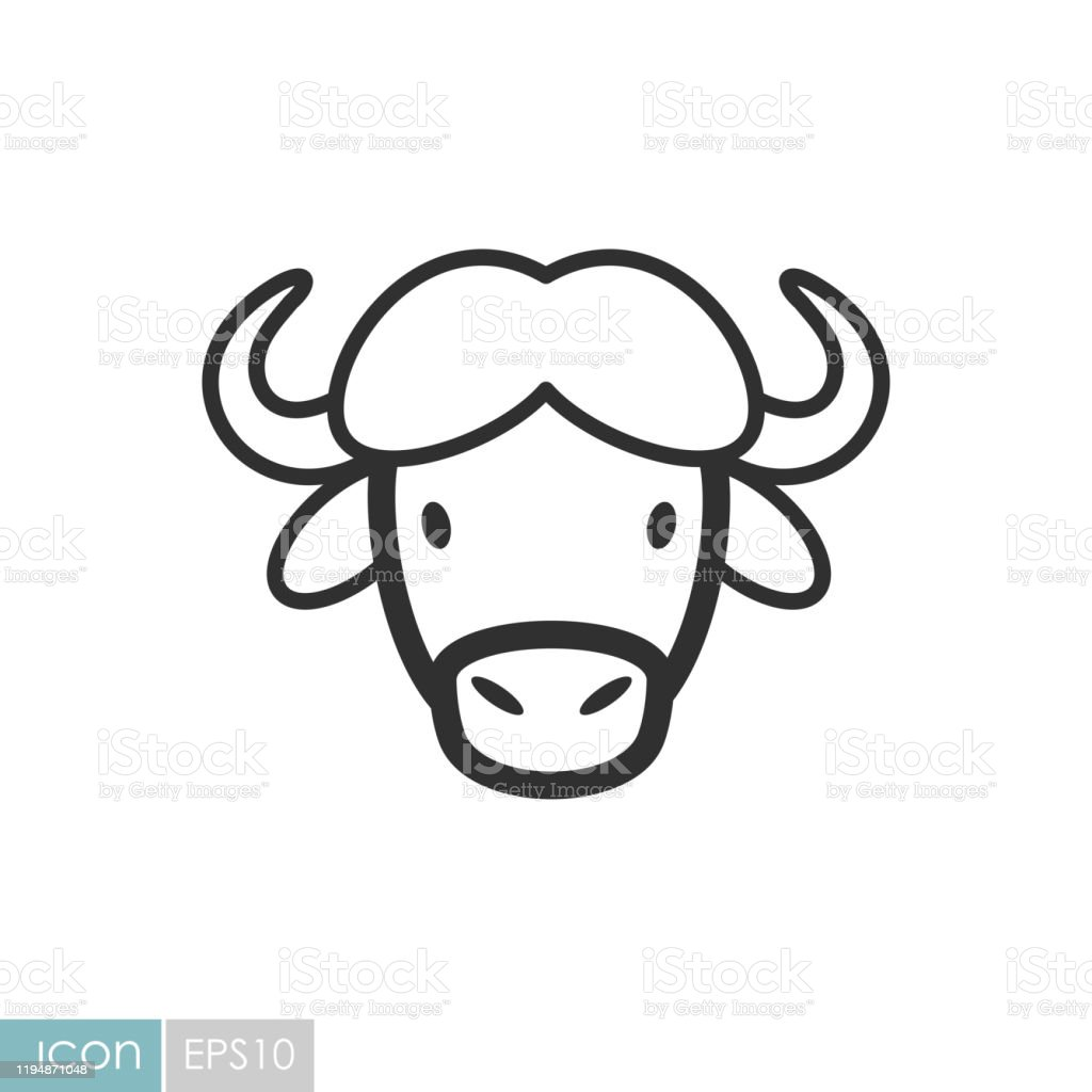 Buffalo Bison Ox Icon Animal Head Vector Stock Illustration Download Image Now Istock