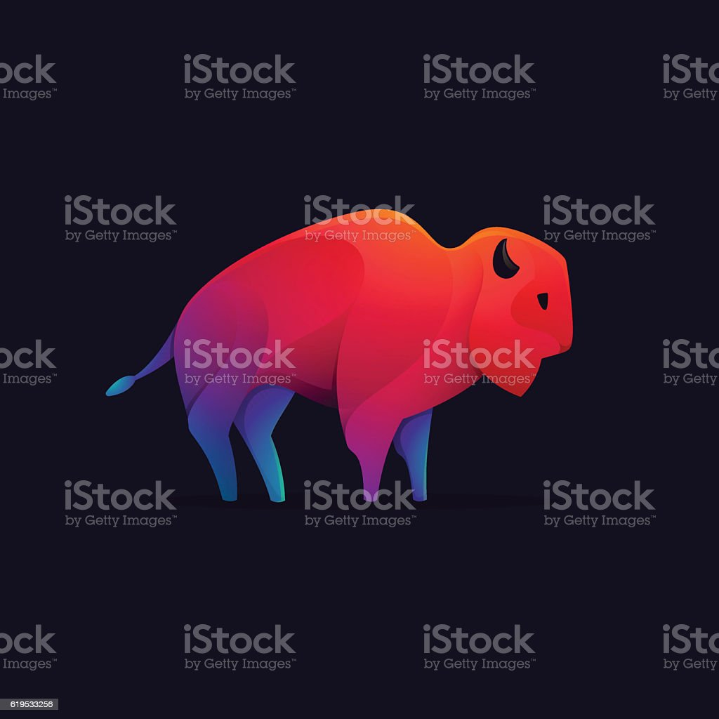 Buffalo, bull, ox vector character. vector art illustration