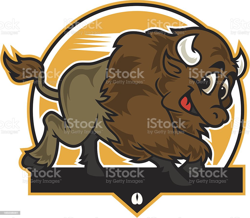 Buffalo Charge KID vector art illustration