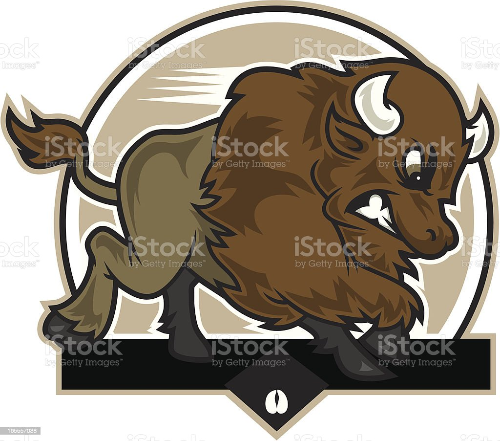 Buffalo Charge vector art illustration