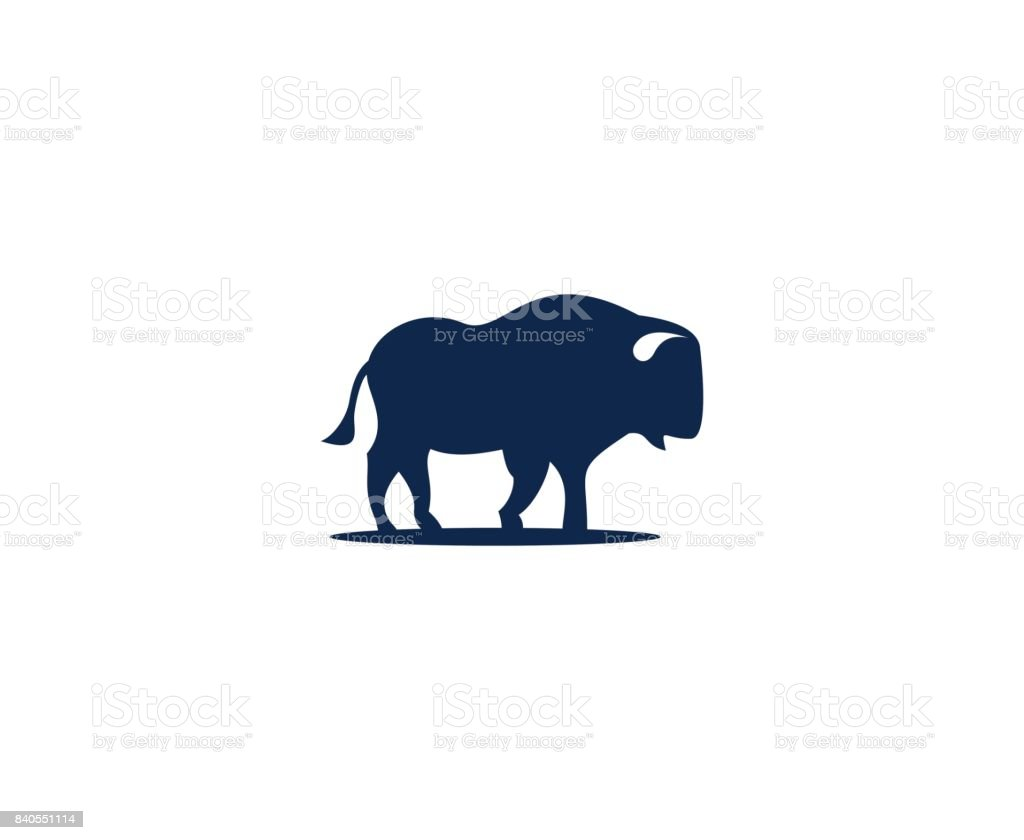 Buffalo icon vector art illustration