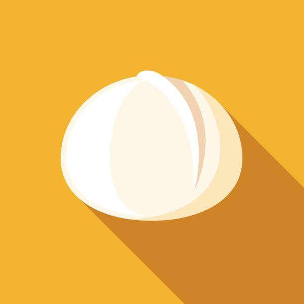 Mozzarella di Bufala Cheese Icon A flat design cheese icon with a long shadow. File is built in the CMYK color space for optimal printing. Color swatches are global so it's easy to change colors across the document. mozzarella stock illustrations