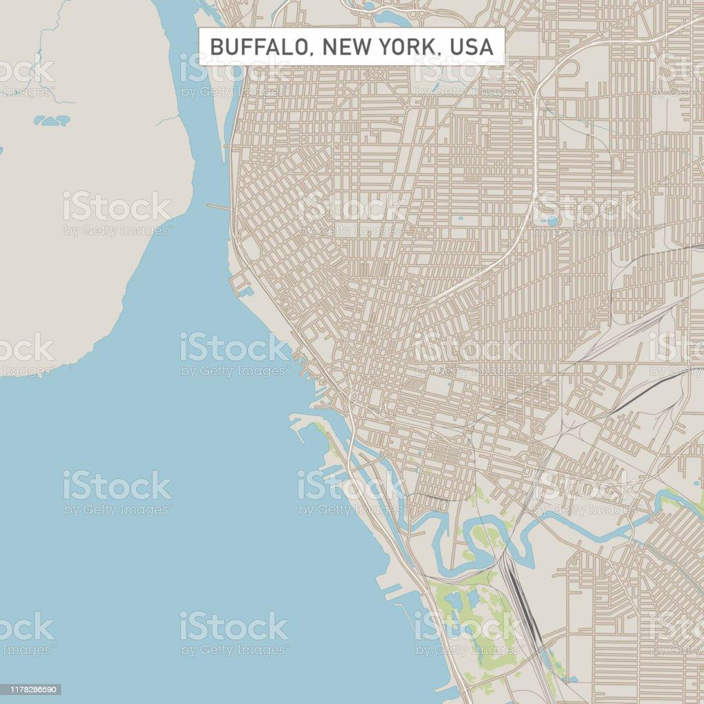Buffalo New York Us City Street Map Stock Illustration Download
