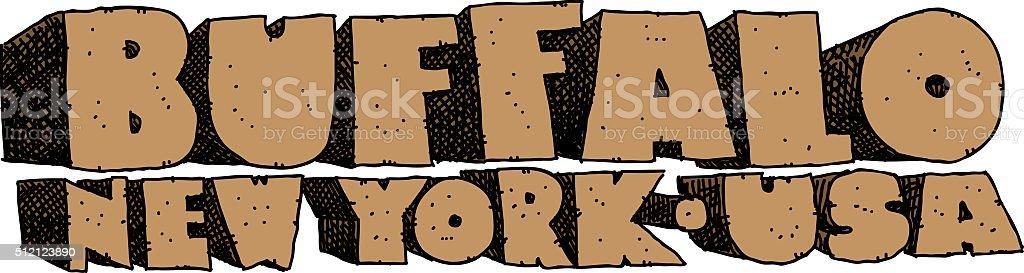 Buffalo NY Text vector art illustration