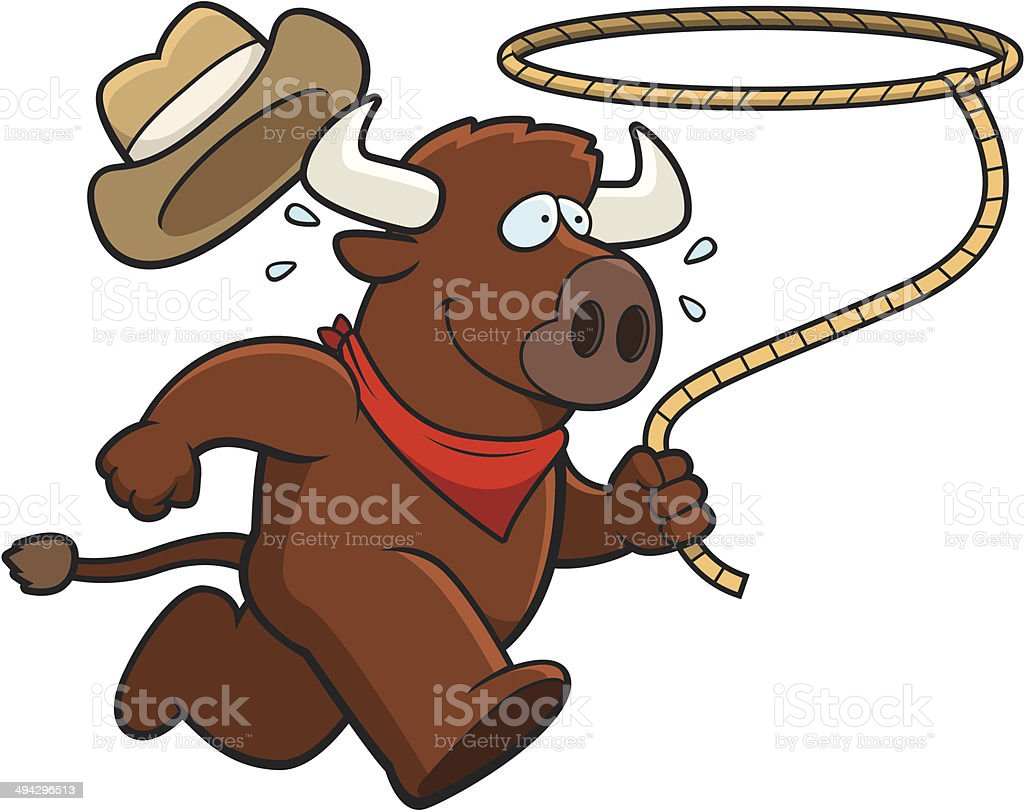 Buffalo Rodeo vector art illustration