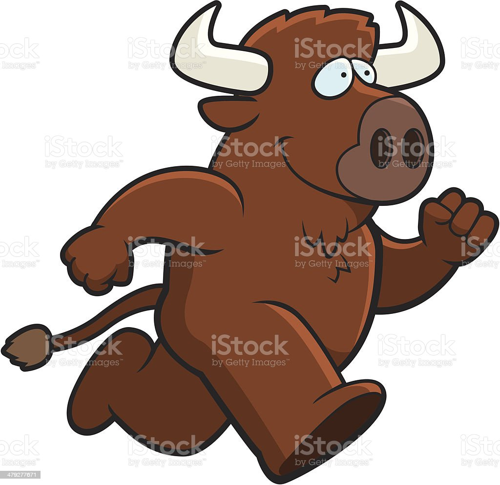 Buffalo Running vector art illustration