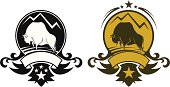 Buffalo symbol in two variants on separate layers. Easy to edit.